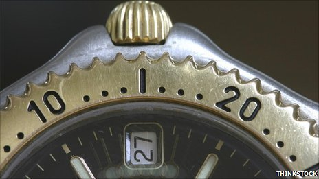 Wristwatch close-up
