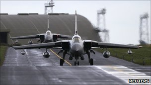 Tornado planes at Lossiemouth