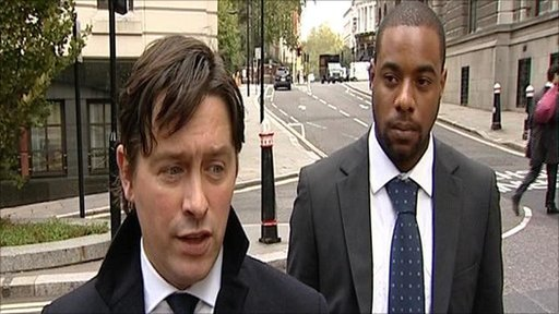 Lawyer Daniel Cundy and cricketer Mervyn Westfield