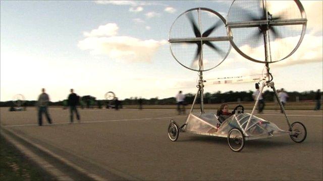 Bristol's wind-powered car