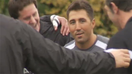 Gavin Henson performs 'the Worm' in Saracens initiation