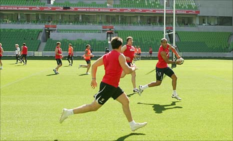 England train in Melbourne