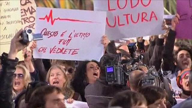 Protests in Rome