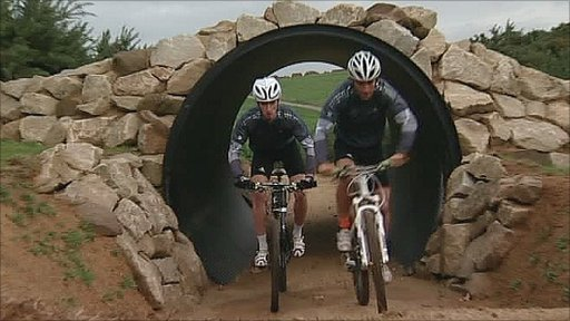 The Olympic mountain biking course in Essex