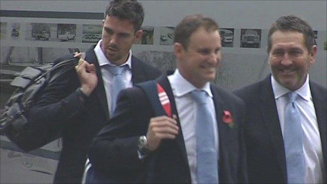 Kevin Pietersen, Andrew Strauss & Graham Gooch