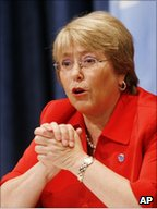 Michelle Bachelet, head of UN women and former president of Chile 