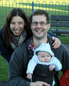 Samantha and Charlie Blackwell with their baby Jack