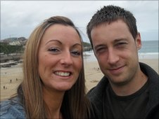 Louise Taylor and partner Chris McCarthy