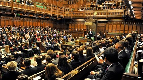 Speaker John Bercow addresses the UK Youth Parliament in the House of Commons