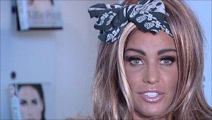 Glamour model Katie Price