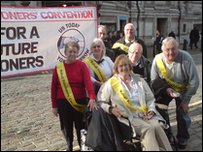 Pensioners protest in London