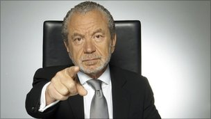 "Lord Sugar in ""You're fired"" mode"