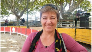Brigitte Dubois, president of Nimes bullfighting association