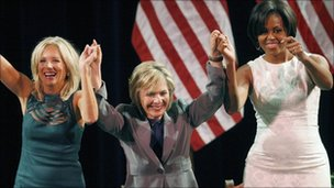 Jill Biden, Barbara Boxer and Michelle Obama