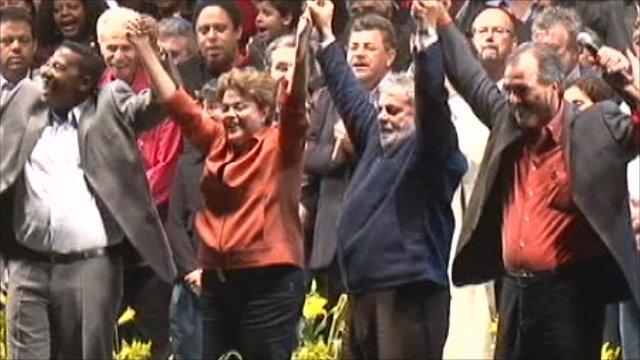 Dilma Rousseff and President Lula da Silva