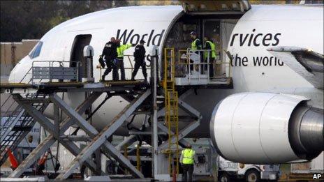 UPS plane at Philadelphia airport
