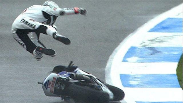 Jorge Lorezo crashes in qualifying