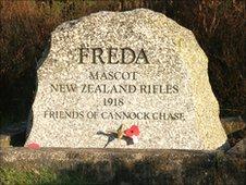 Freda's grave