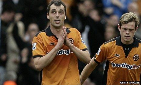 Wolves goalscorer Nenad Milijas
