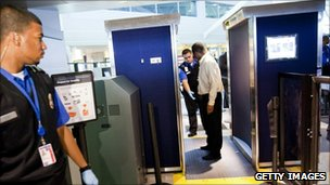 New advanced imaging technology scanners at JFK airport (22 October 2010)