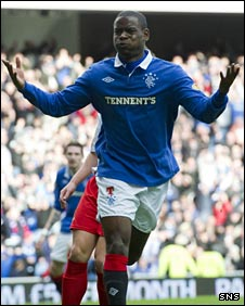 Maurice Edu celebrates his opening goal