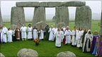 Druids perform a Samhain blessing at Stonehenge