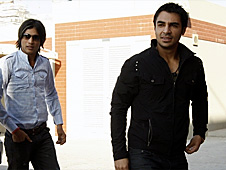 Mohammad Amir (left) and Salman Butt