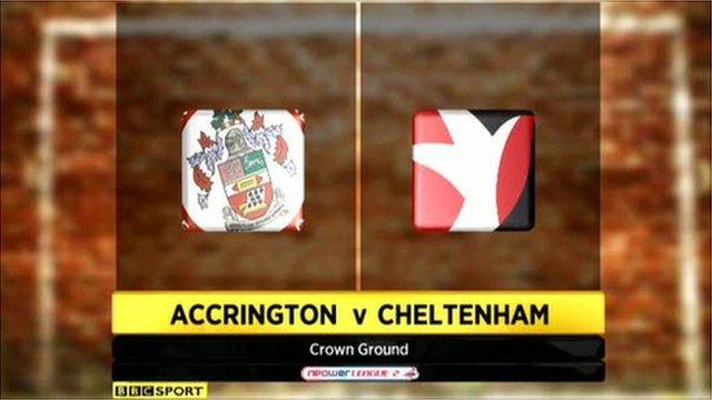 Accrington Stanley 2-4 Cheltenham