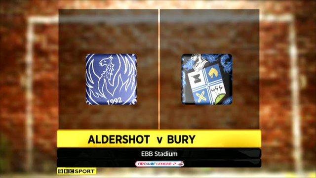 Aldershot 1-3 Bury
