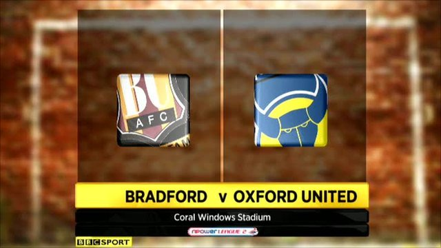 Bradford 5-0 Oxford United