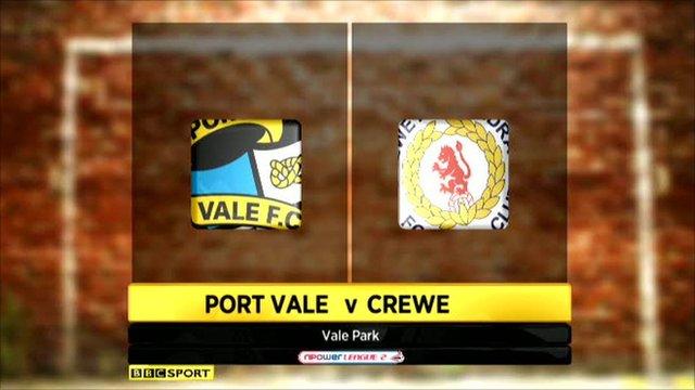 Port Vale 2-1 Crewe
