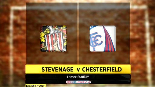 Stevenage 0-0 Chesterfield