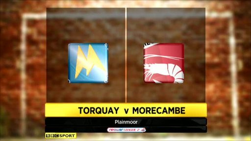 Torquay 3-1 Morecambe
