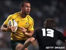 Quade Cooper in action in Australia's thrilling win over New Zealand
