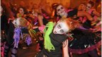 Dancers lead the way at the Banks of the Foyle Halloween Carnival