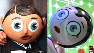Frank Sidebottom and Selfridges' window