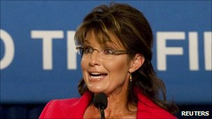Sarah Palin at an election event in Orlando, Florida - 23 October 2010