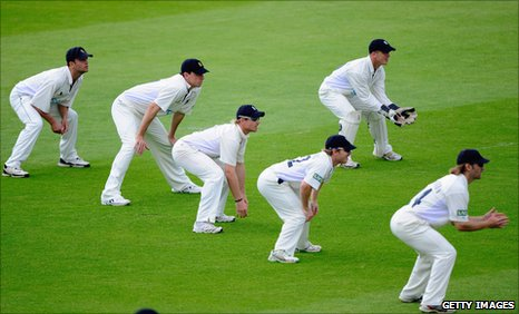 A Warwickshire slip cordon in a County Championship match in 2009