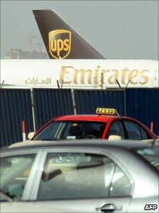 Cargo planes at Dubai airport (file image)