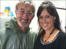 Eddie Jordan and BBC reporter Lee McKenzie