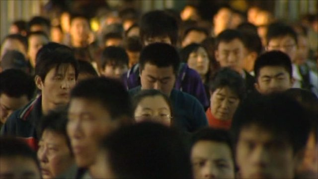 Commuters in China