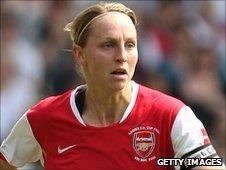 Arsenal captain Faye White
