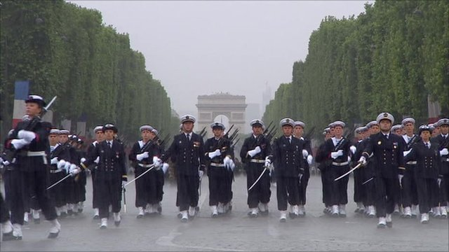 French troops in Paris