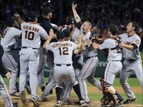 San Francisco Giants celebrate victory