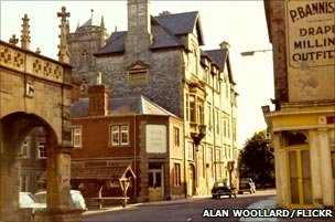 Shepton Mallet circa 1972. Photo courtesy of Alan Woollard Photography