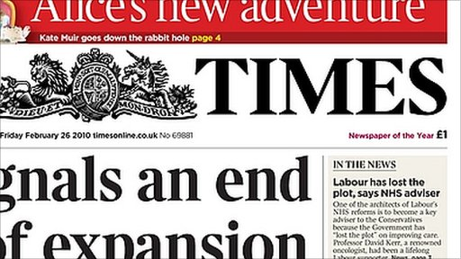Times header