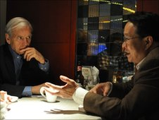 John Humphrys interviews a lawyer