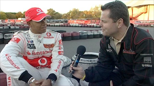 Lewis Hamilton with Chris Hollins