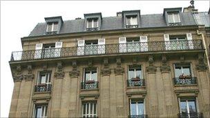 Top of Paris apartment block - generic file photo