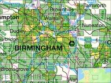 Birmingham map grid